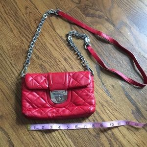 Handbags - Women's Calvin Klein red leather purse